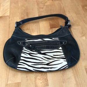 FOSSIL Black and White Zebra Print Handbag